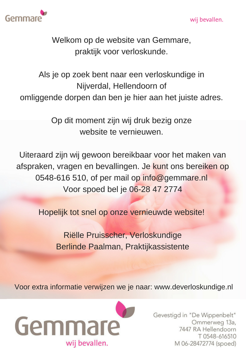 Gemmare verloskunige praktijk Nijverdal en Hellendoorn